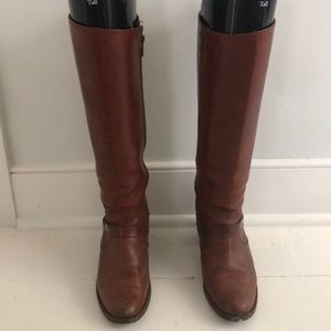 Frye Cognac Leather Heeled Boot 7.5